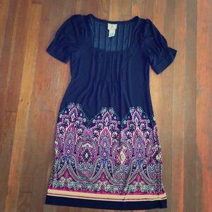 Black dress with pattern detail